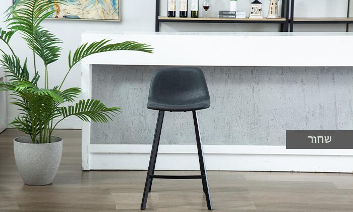 6 כיסא בר עם ריפוד דמוי עור