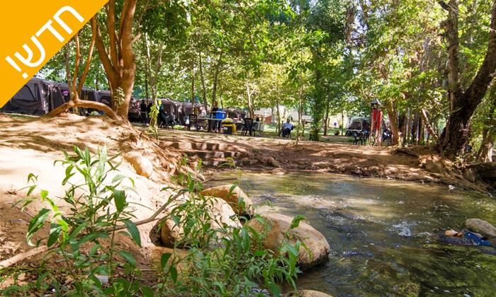 3 קמפינג על גדת החצבני - ירוק על הנחל