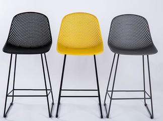 כיסא בר סקנדינבי דמוי רשת