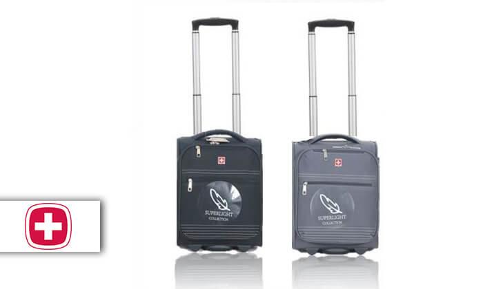 """2 מזוודת עליית למטוס """"16 SWISS BAG"""