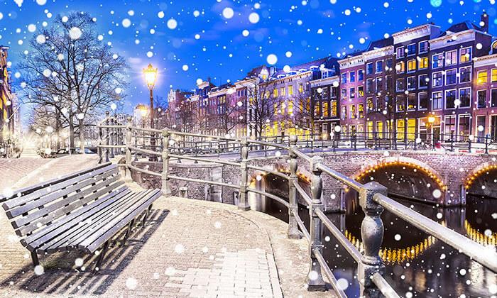 7 חורף באמסטרדם - טיסות, כולל מזוודה