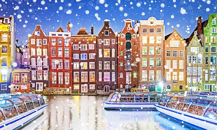 2 חורף באמסטרדם - טיסות, כולל מזוודה