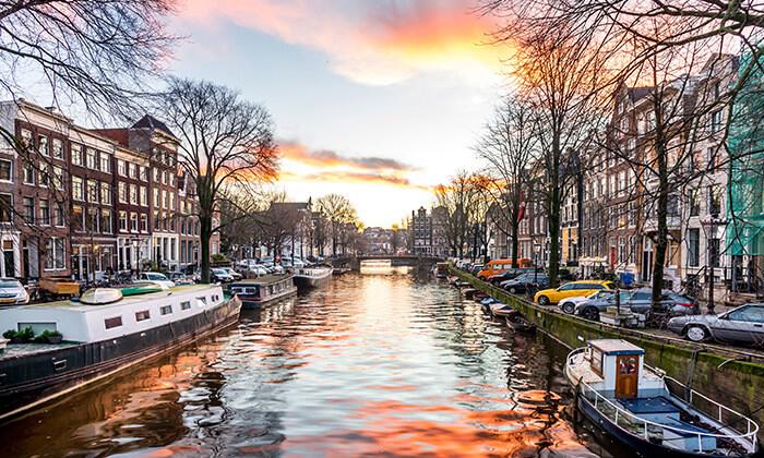 6 חורף באמסטרדם - טיסות, כולל מזוודה