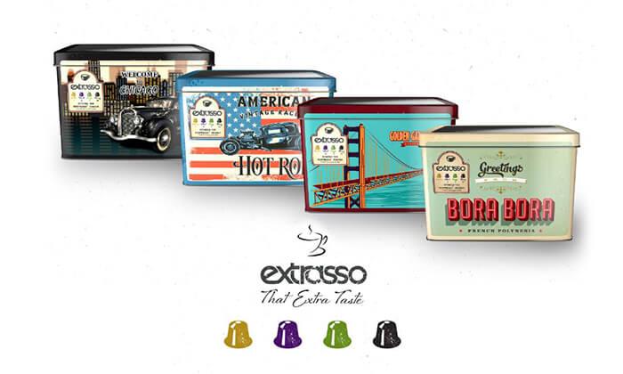 2 100 קפסולות קפה בטעמים Extrasso