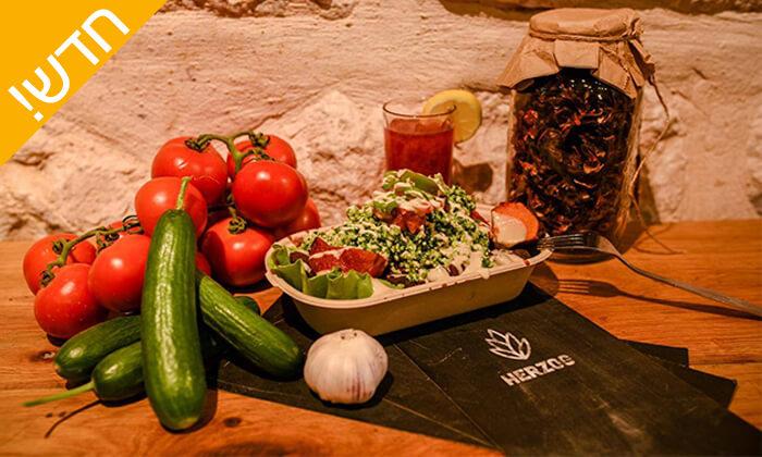 5 ארוחה טבעונית ב'הרצוג', תל אביב