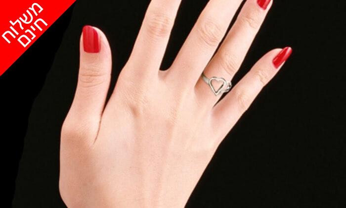 6 טבעת לבבות זהב 14K של GOLDIAM - משלוח חינם