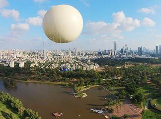 טיסה בכדור פורח בפארק הירקון