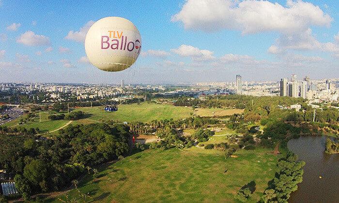 6 TLV Balloon טיסה בכדור פורח, בפארק הירקון