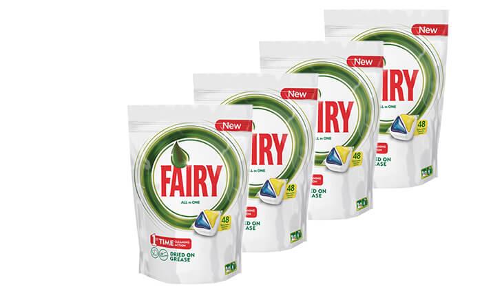 2 ארבעה מארזי טבליות למדיח Fairy