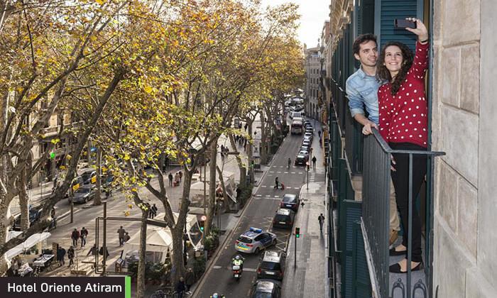 5 חופשה בברצלונה - מלון על שדרת לאס ראמבלס המפורסמת, כולל חנוכה