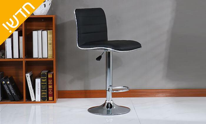 3 כיסא בר דמוי עור