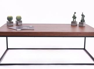 שולחן קפה מלבני מעץ