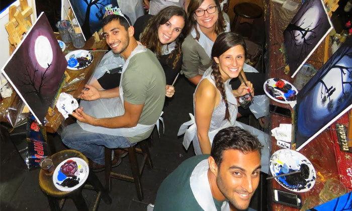 8 כניסה לפיינט דייט Paint Date, תל אביב