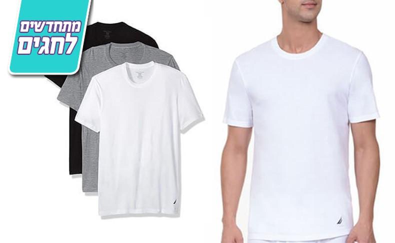 מארז 3 חולצות טי-שרט לגבר