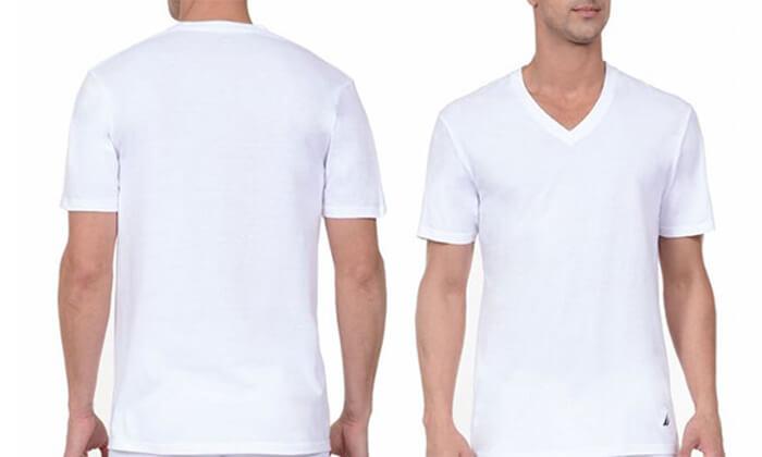 6 מארז 6 חולצות נאוטיקה לגבר- צווארון וי