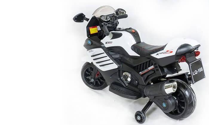 6 אופנוע ממונע עם גלגלי עזר לילדים