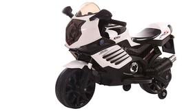 אופנוע ממונע עם גלגלי עזר לילד