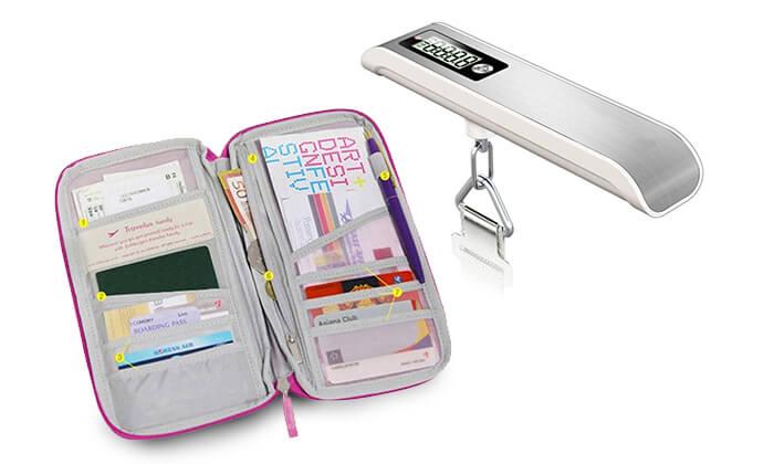 2 משקל למזוודה ותיק מסמכים לנסיעות