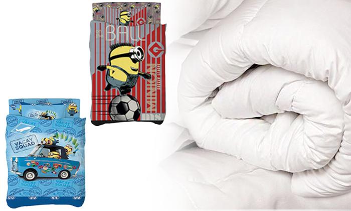 2 סט 4 חלקים למיטת ילדים כולל שמיכת נוצות - משלוח חינם