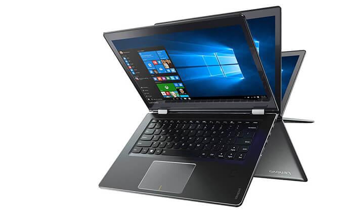 """4 מחשב נייד לנובו LENOVO עם מסך מגע מתהפך """"15.6"""