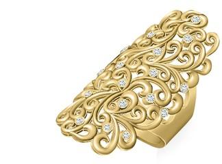 טבעת זהב ויהלומים וינטג'