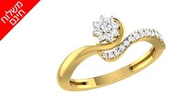 טבעת יהלומים 14K