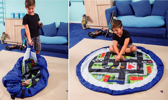 משטח משחק מתקפל לשק צעצועים