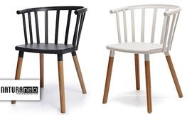 4 כיסאות לפינת אוכל Stripe