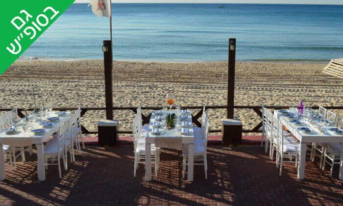 3 וופל בלגי זוגי ושתייה חמה במסעדת סטלה ביץ', טיילת בת ים