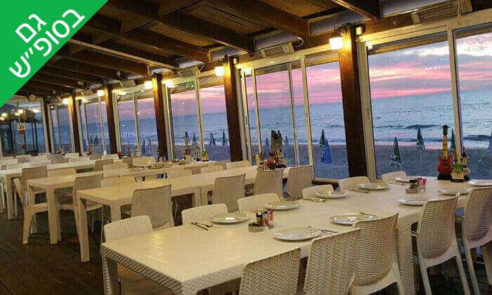 4 וופל בלגי זוגי ושתייה חמה במסעדת סטלה ביץ', טיילת בת ים