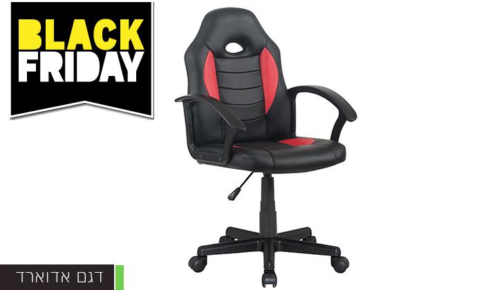 3 כיסא גיימרים בריפוד דמוי עור