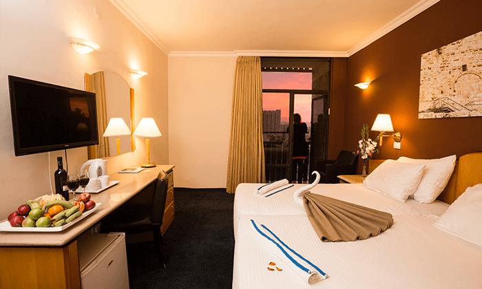 6 חופשה זוגית אורבנית בגני ירושלים - מלון וספא