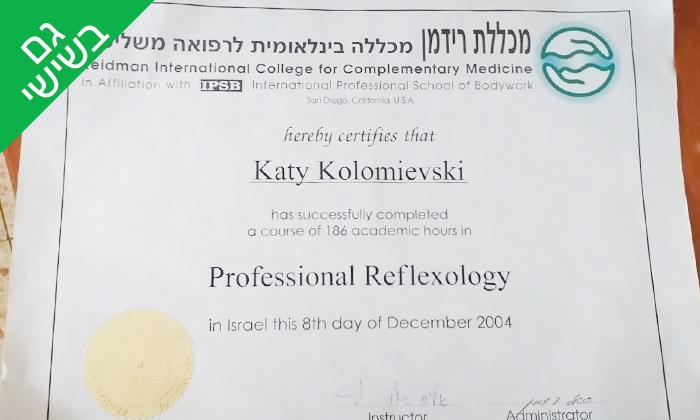 5 טיפול רפלקסולוגיה אצל המעסה קתיה קולומייבסקי, רחובות