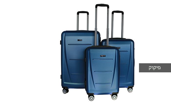 8 סט 3 מזוודות קשיחותSWISS
