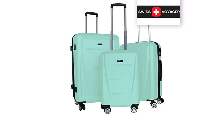 3 סט 3 מזוודות קשיחותSWISS