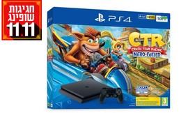 קונסולת משחק PS 4 עם שני שלטים