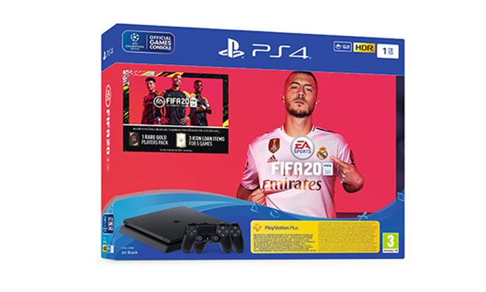 3 קונסולת משחק פלייסטיישן Playstation 4 Slim עם FIFA 20