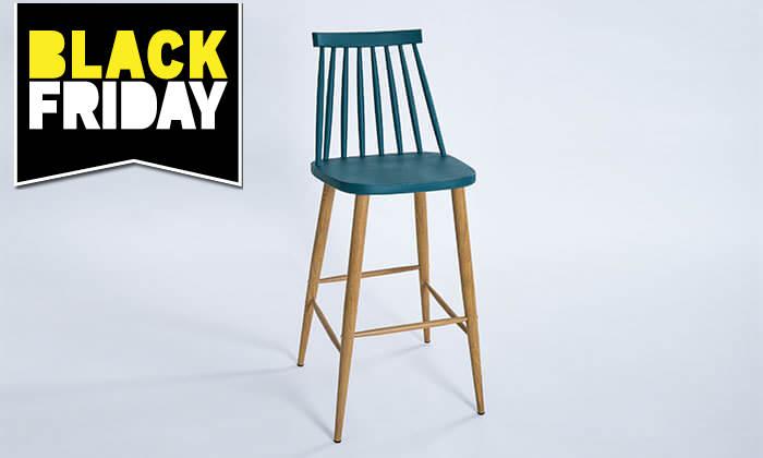 19 כיסא בר עם משענת גב