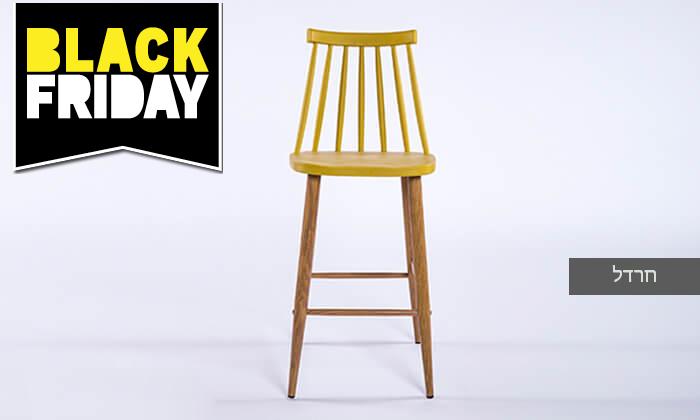 9 כיסא בר עם משענת גב