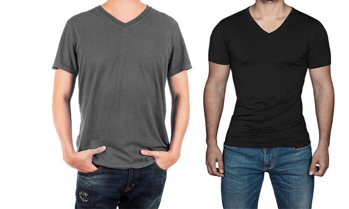 4 6 חולצות בייסיק לגבר ולאישה Hanes & FRUIT OF THE LOOM