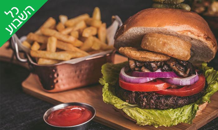 5 ארוחת המבורגר זוגית במסעדת השדרה 34 - שדרות בן גוריון, תל אביב