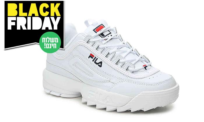 3 נעלי סניקרס לנשים פילה FILA Disruptor - משלוח חינם לזמן מוגבל