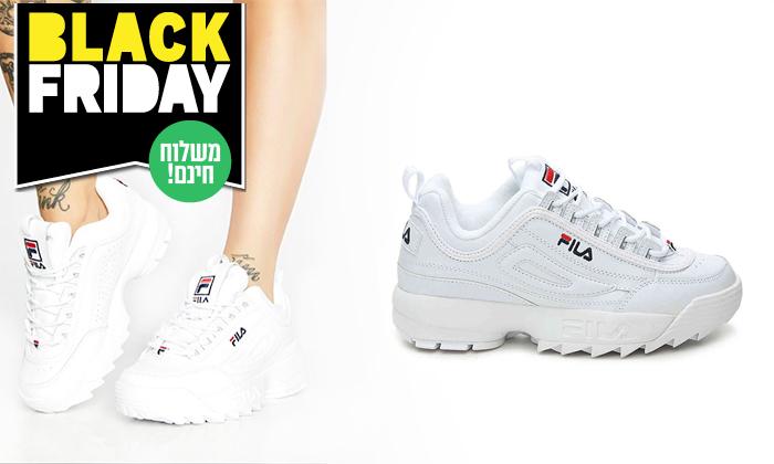 12 נעלי סניקרס לנשים פילה FILA Disruptor - משלוח חינם לזמן מוגבל
