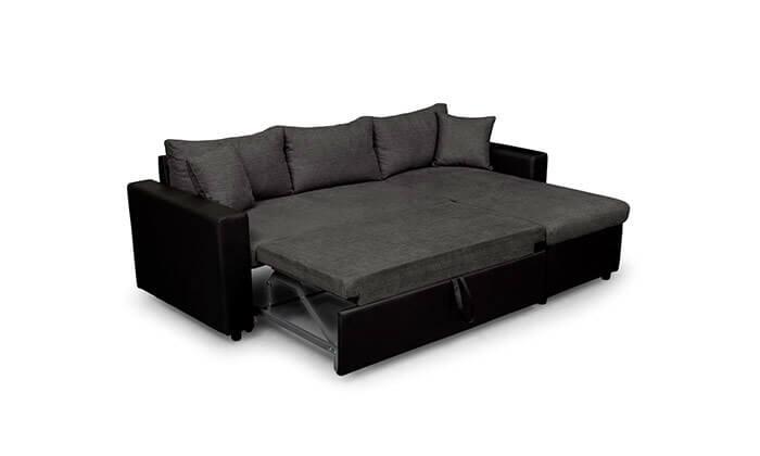 4 מערכת ישיבה פינתית נפתחת למיטה
