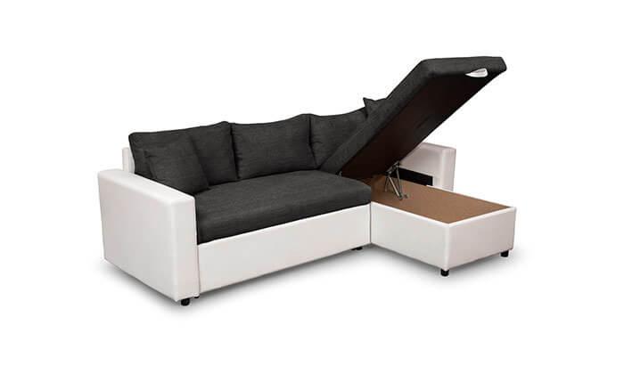 7 מערכת ישיבה פינתית נפתחת למיטה