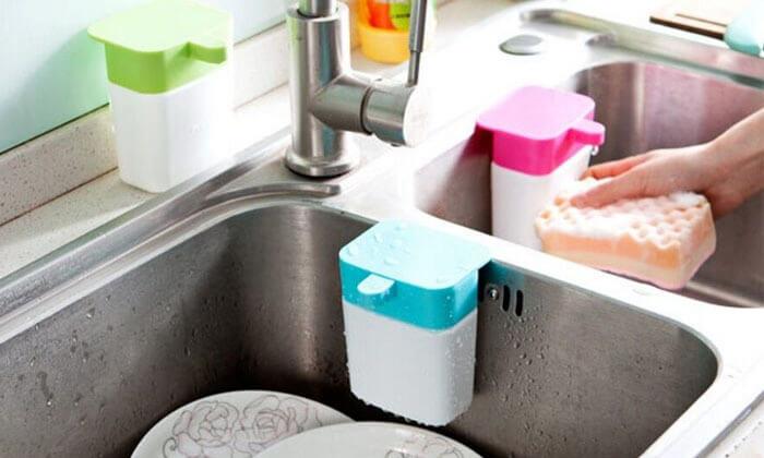 2 מתקן סבון כלים לכיור