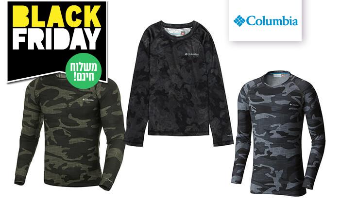 6 חולצה תרמית ארוכה לגברים Columbia - משלוח חינם!