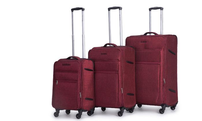8 סט שלוש מזוודות רכות SWISS