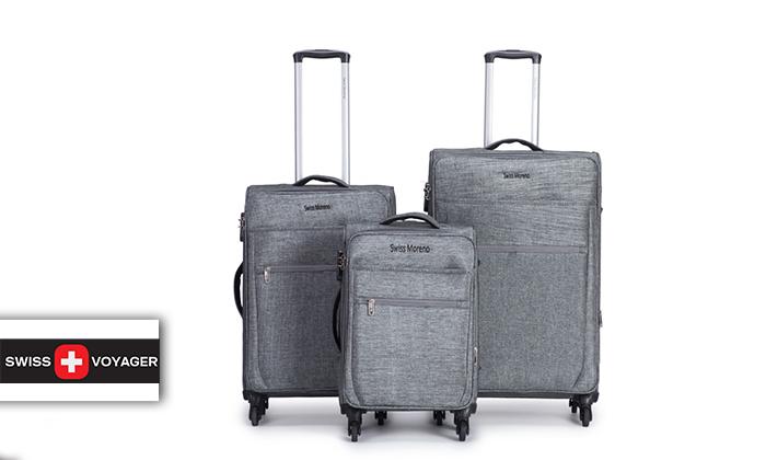2 סט שלוש מזוודות רכות SWISS
