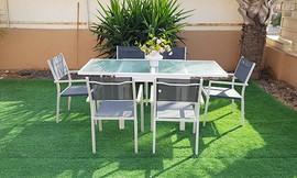 סט גינה: שולחןנפתח ו-4 כיסאות